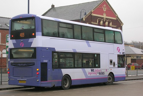 First Manchester, Volvo B9TL MX58 DZK, Ashton-under-Lyne bus station