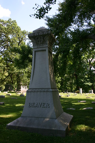 Beaver family plot in Woodland Cemetery