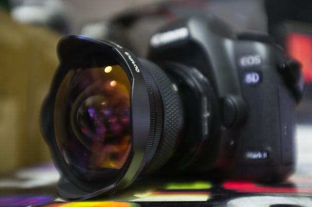 Canon 5D2 + OM-EF adaptor +shift OM24/3.5
