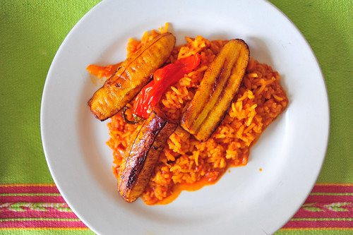 Shrimp Rice with Plantains