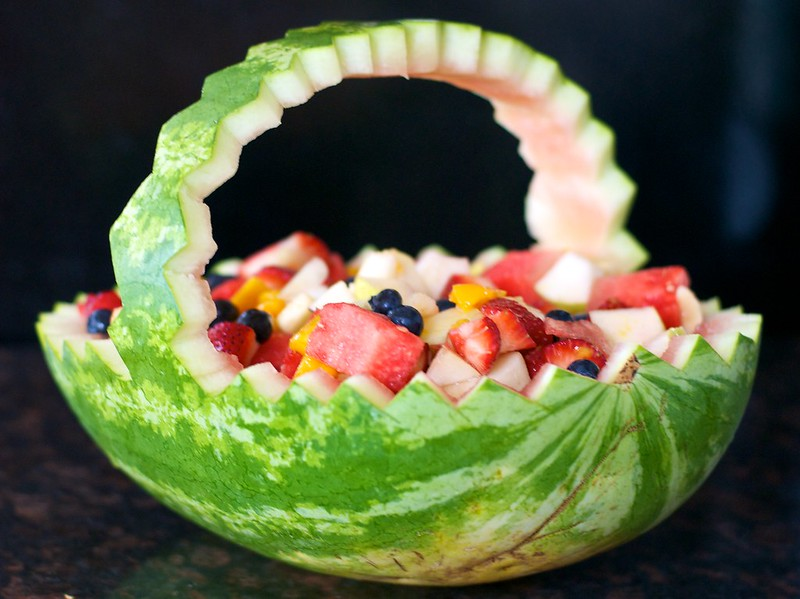 How To Make A Watermelon Serving Bowl Strawberry Pepper