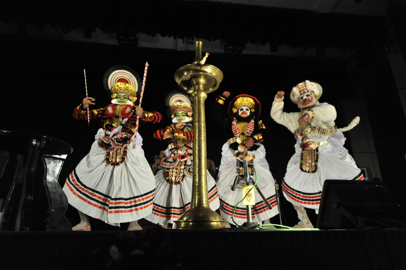 Rama, Lakshmana, Sugreeva and Hanuman, Margi Madhu : Koodiyattam - Bali Vadham