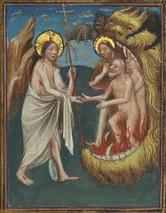 Missal of Eberhard von Greiffenklau, Harrowing of Hell, Walters Manuscript W.174, fol. 95r