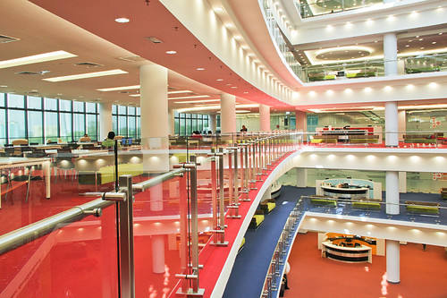 The interior of the Raja Tun Uda Library