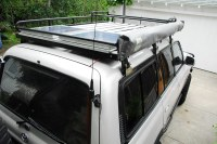 Solar Panels Installed On Roof Rack