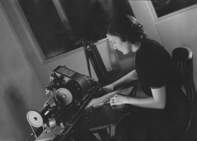 [Woman working, Adressograph Corporation]