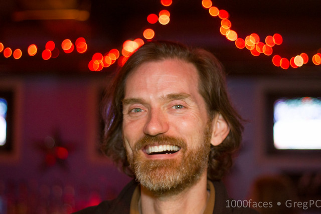 Face - bearded man with a toothy smile
