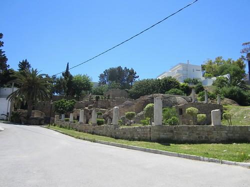 ruins in a yard in carthage