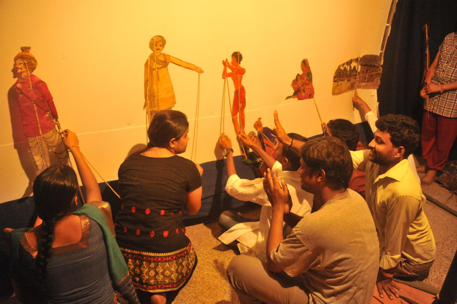 Leather puppetry, Andhra Pradesh.