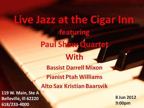 Paul Shaw Quartet with Ptah Williams 8 Jun
