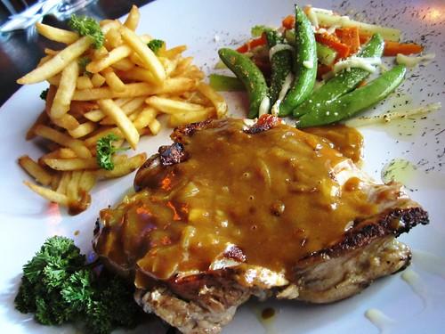 Enjoy grilled chicken chop