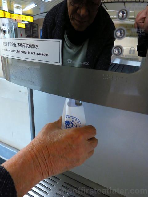 water dispenser at Taipei airport-002