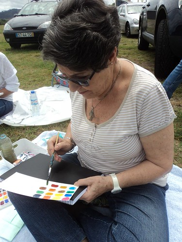 Plein air watercolour workshop in the countryside Portugal