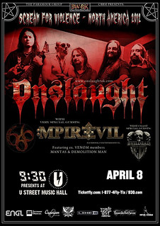 Onslaught and M-Pire Of Evil at U St Music Hall