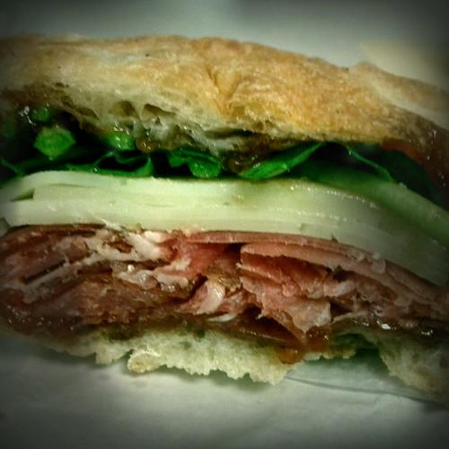 Serrano ham sandwich from Forager's