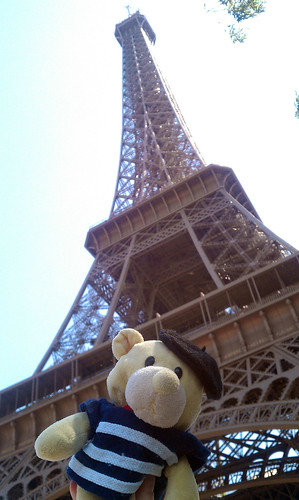 Big tower, small bear
