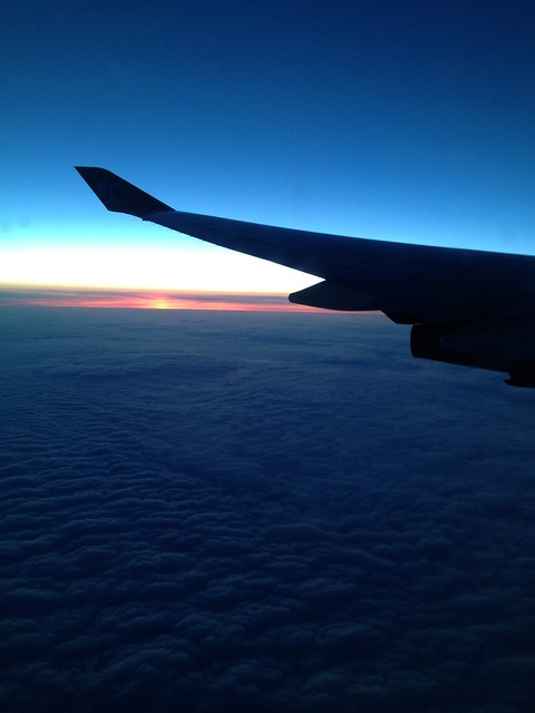 Plane ride home from London