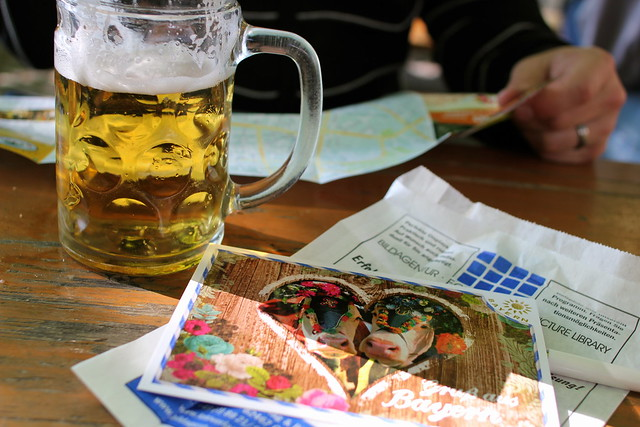 We shared a stein and wrote postcards