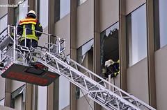 Feuer R+V-Hochhaus Kureck 04.04.12