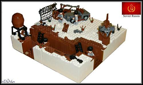 Lego ww2 -Russian Trench-