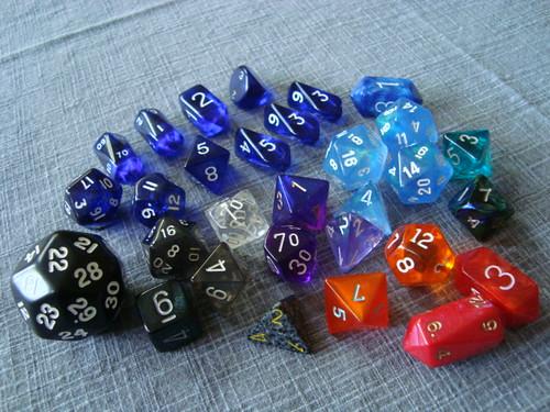 Spoils of con - The whole dice haul