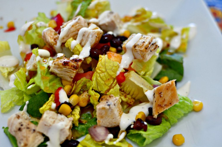 Mexican Chicken Salad with Chili Lime Vinaigrette