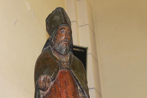 Statue de Saint-Nicolas dans l'église d'Einville-au-Jard