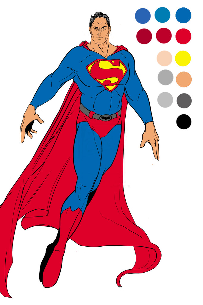 Superman_Line_Art_AamirRaza