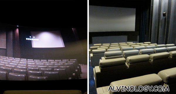 Shaw Preview Theatre on the right and the movie theatre in POV on the left