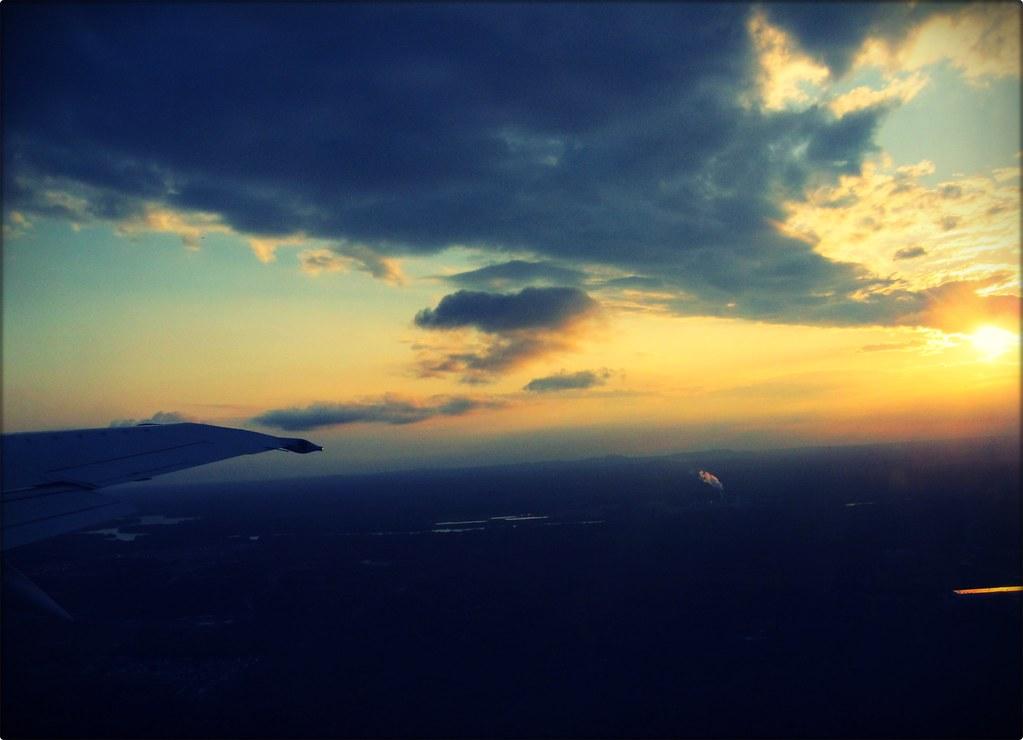 Plane Sunset
