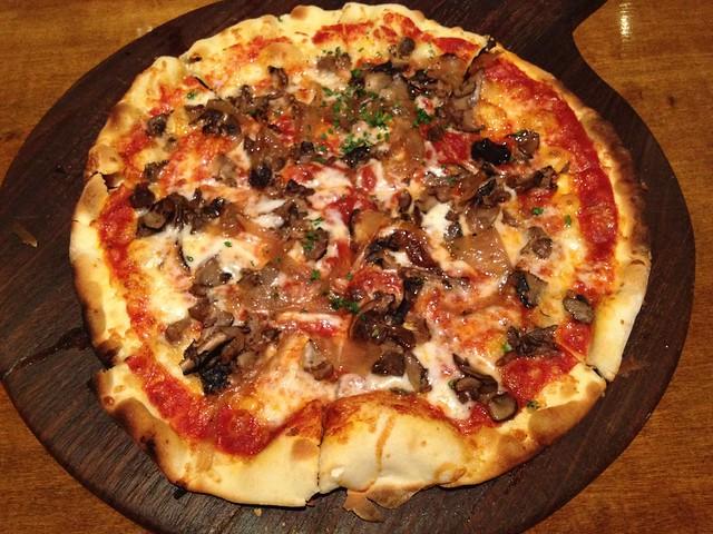 Mushroom pizza - Firewood Cafe