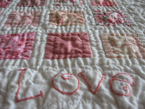 Pink Love Mini Quilt