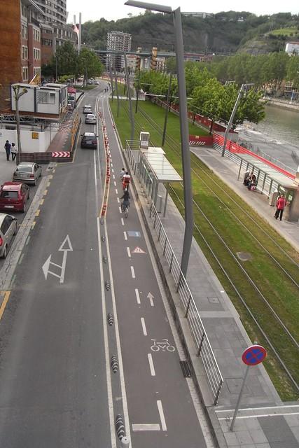 Carril Bici en Bilbao.