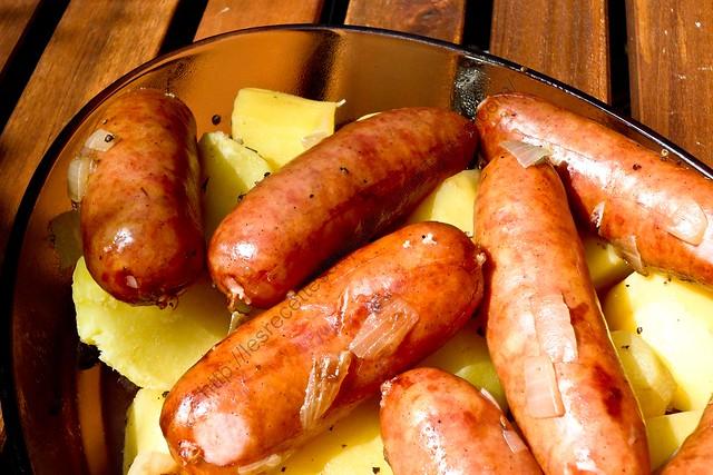 Pommes de terre aux diots de Savoie / Potatoes with Savoy Diot Sausages