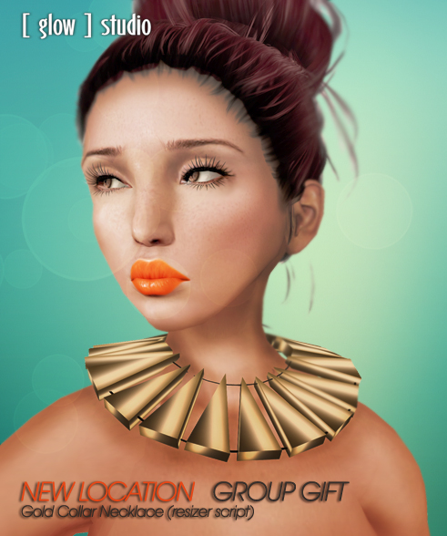 [ glow ] studio - New Location group gift - Gold Collar