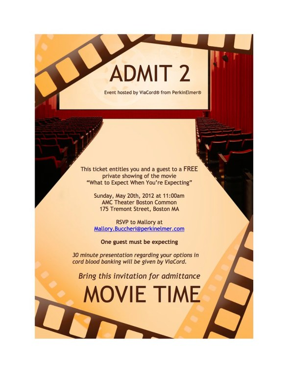 What to expect movie invitation copy