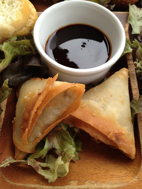Vegetable samosas Waterfront Cafe