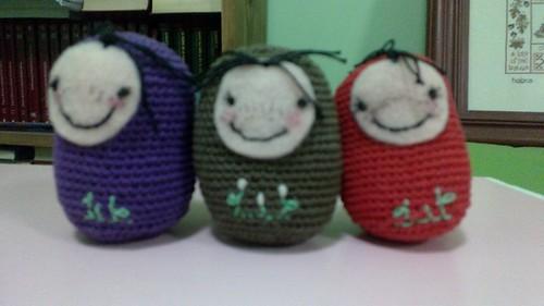 Mis tres gorditos by María Laura Oliva