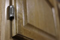 Oak Kitchen Cabinets with Exposed Hinges   Flickr - Photo ...