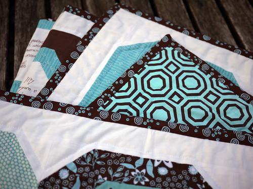 Signature Quilt, Back Fabric Detail