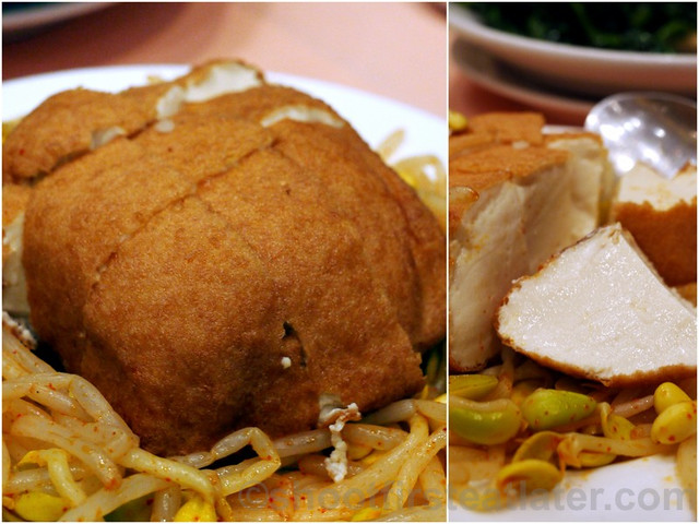 deep fried smoked beancurd with special sauce HK$90