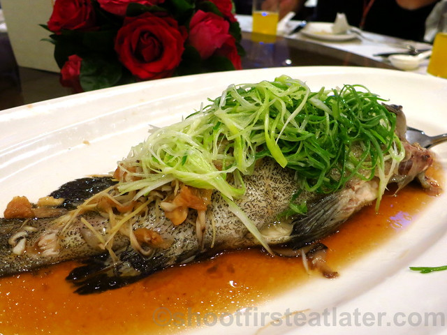 steamed grouper with preserved mustard greens