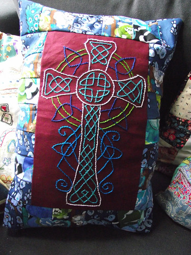 Celtic cross cushion