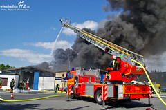 Brand Reifenlager Mörfelden-Walldorf 27.04.12