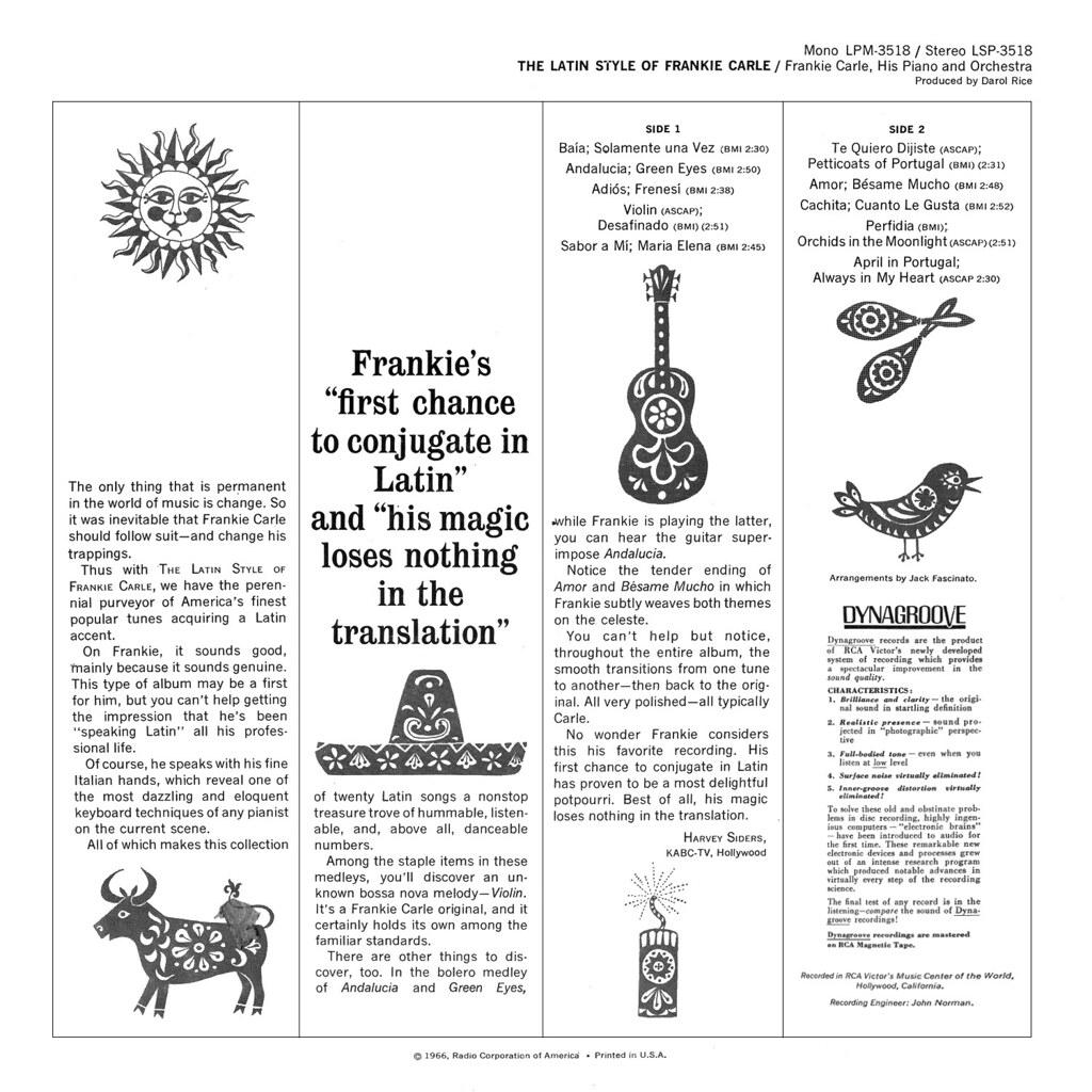 Frankie Carle - The Latin Style of Frankie Carle
