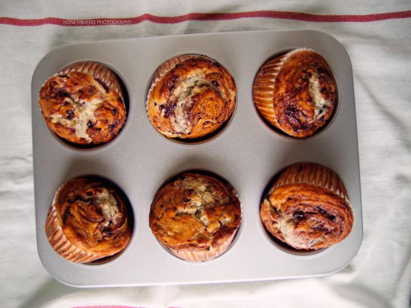 Jumbo Tri-berry muffins