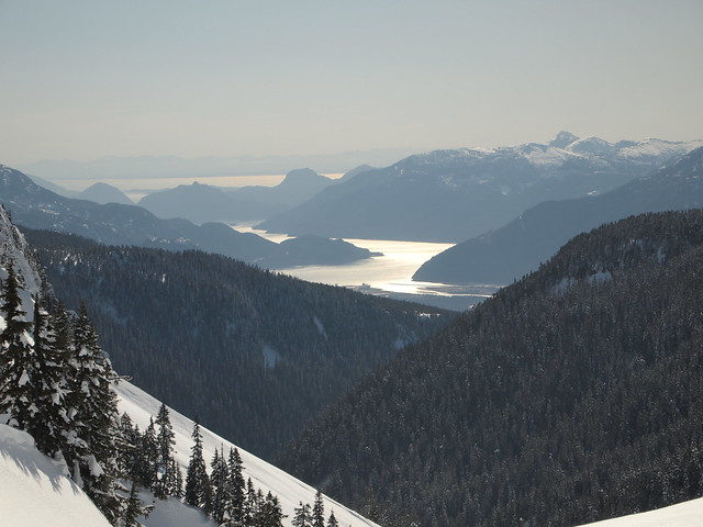 Howe Sound, Squamish, the Chief and beyond.