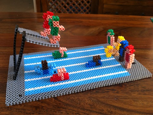 Hama Bead Swimming Pool with Swimmers