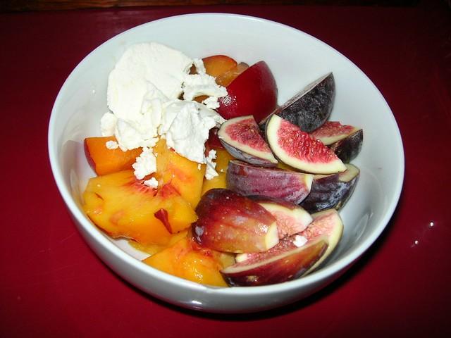 Fruit & Chevre for Breakfast