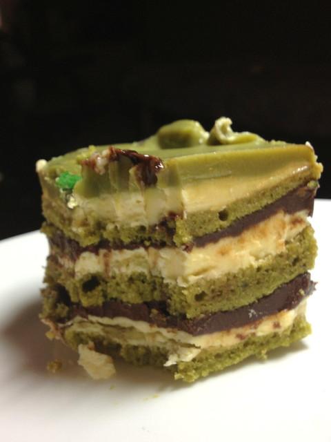 Sinfully by Makati Shangri-La - green tea opera cake